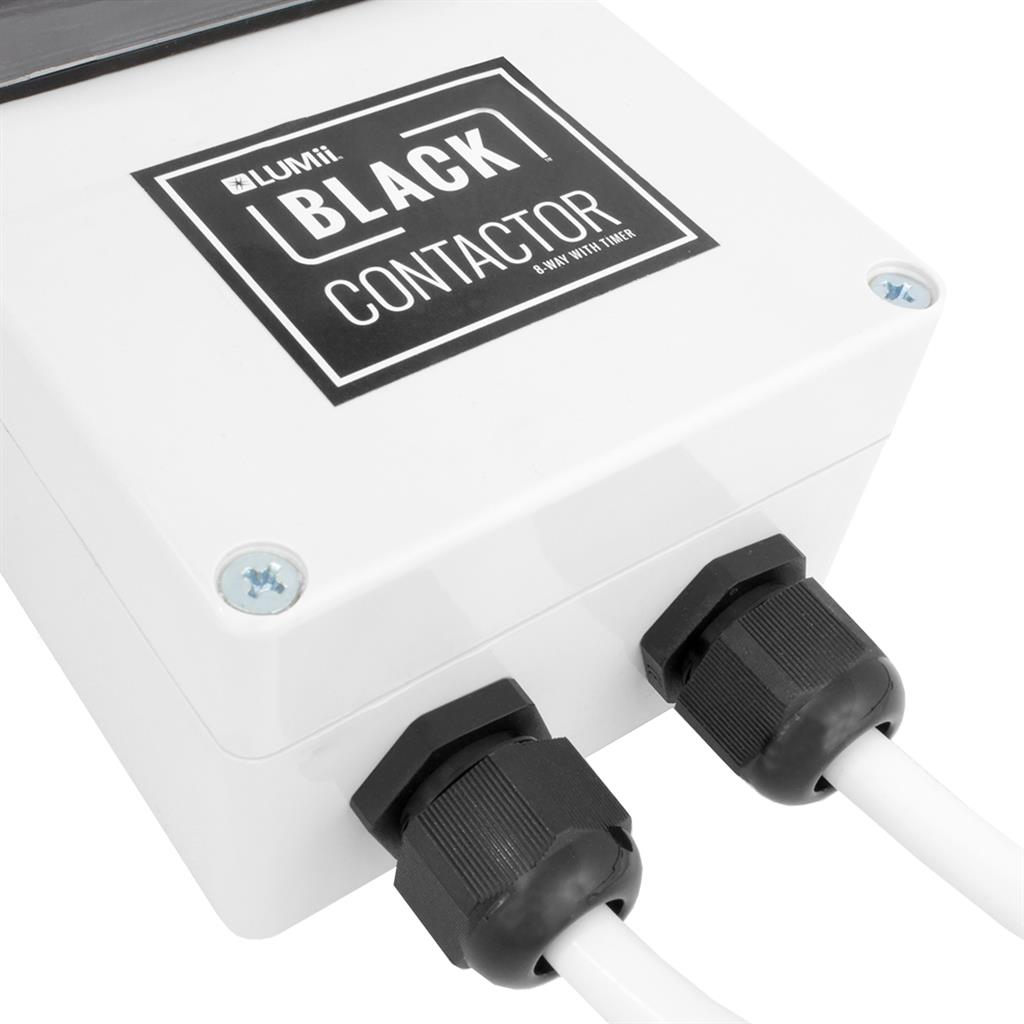 LUMii BLACK 8-Way Contactor Timer