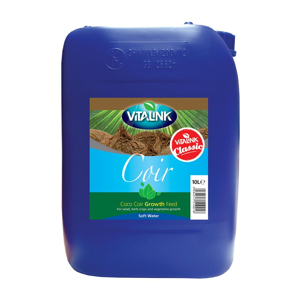 VitaLink Coir Classic Growth Soft Water 10L