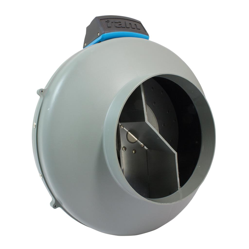 RAM Inline Duct Fan - 200mm with UK Lead