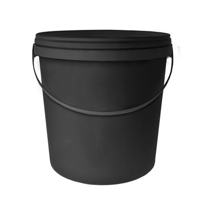 10L Round Black Bucket with Handle & Lid