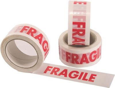 Fragile Tape - 50mm x 66m (Pack of 6 Rolls)
