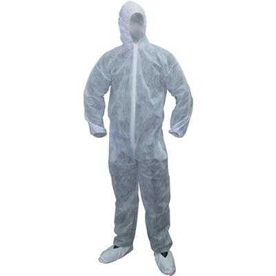 Guard Master+ Disposable White Coverall - Large